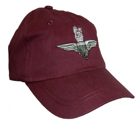 The Parachurte Regiment - cotton baseball cap  hat with embroidered PARA cap badge.